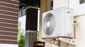 how to hide your air con with a privacy screen